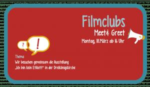 Meet&Greet @ Filmclub-Büro bzw. Dreikönigskirche